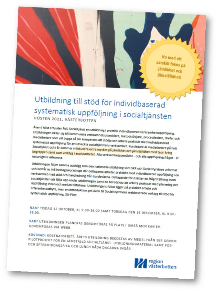 Bild av inbjudan till år 2021 SU-utbildning