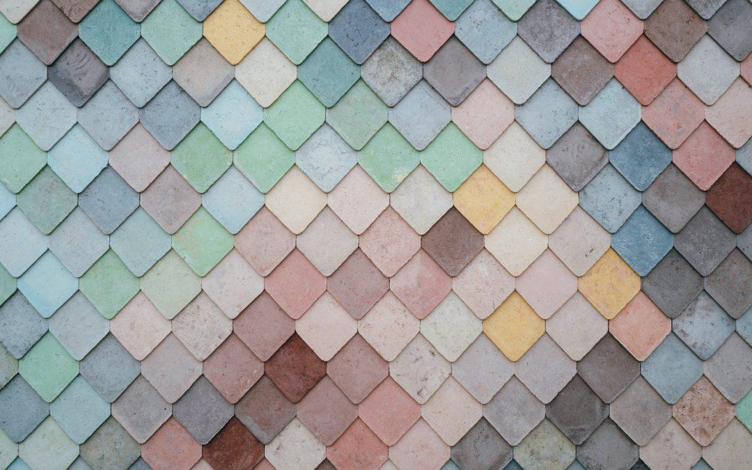 Mosaik i små fyrkanter
