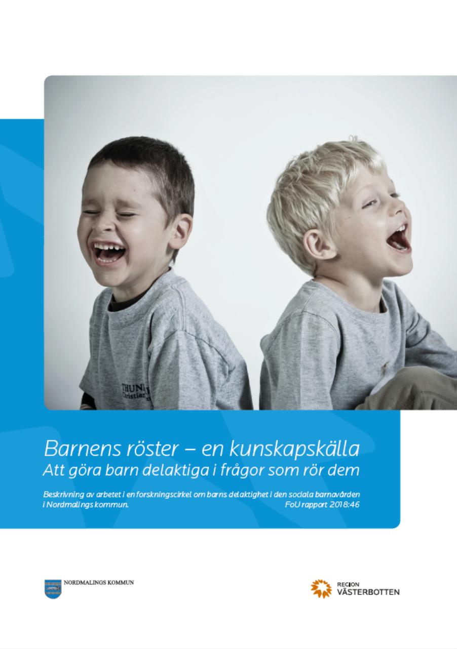 Bild på rapporten Barnens röster - en kunskapskälla