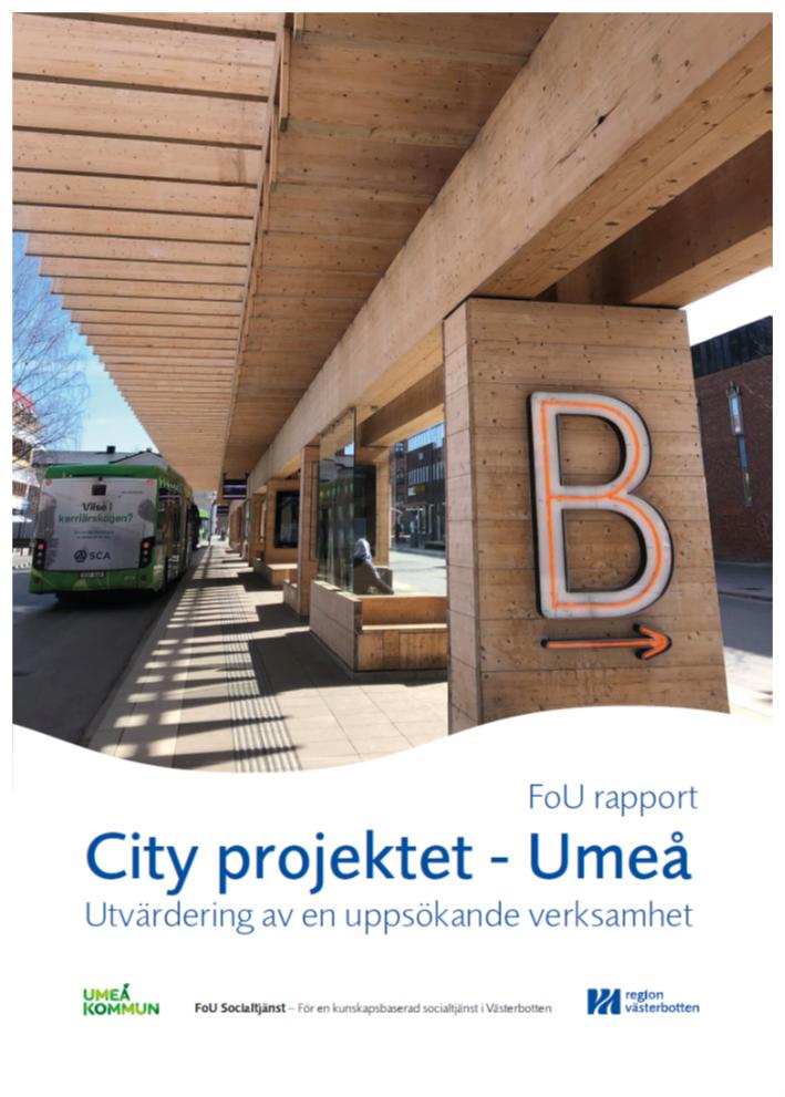 """Framsidan på FoU rapporten """"Cityprojektet - Umeå"""""""